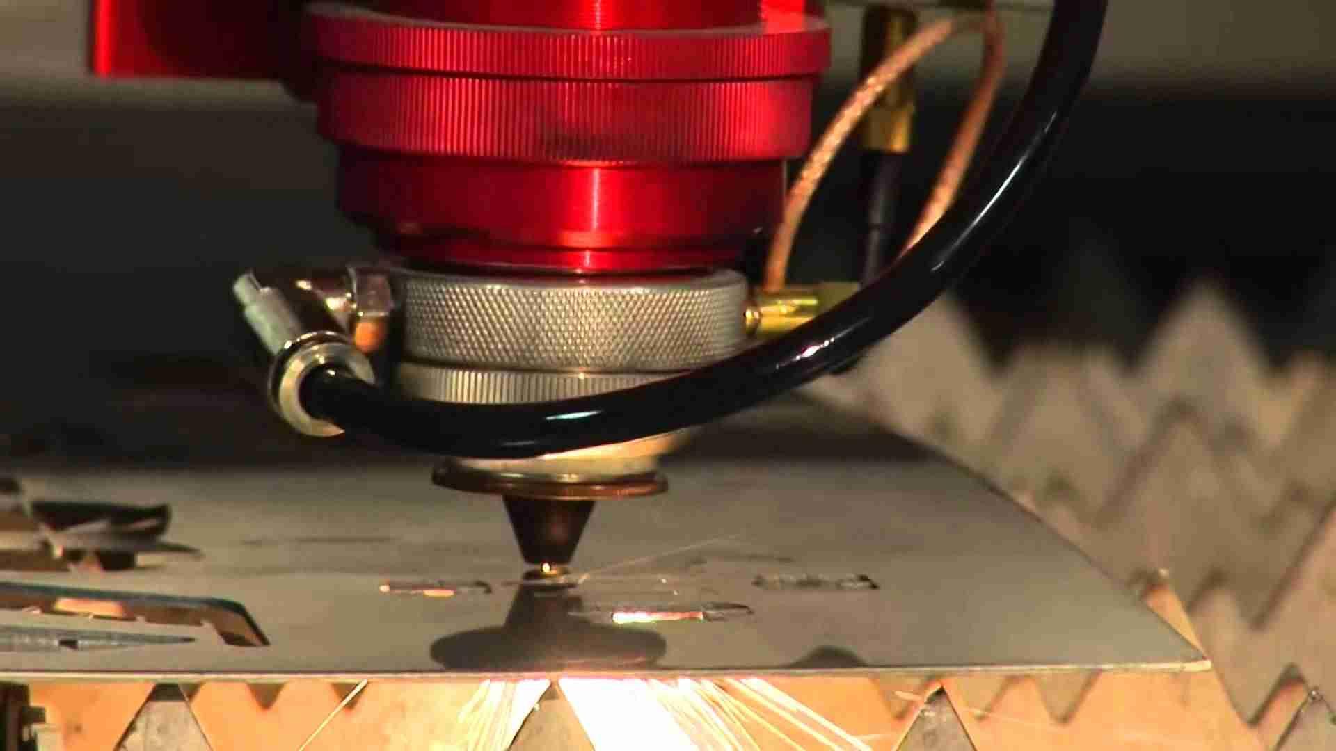 laser cutting an aluminum sheet